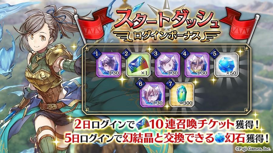 『アルカ・ラスト 終わる世界と歌姫の果実』 スタートダッシュログインキャンペーン画像